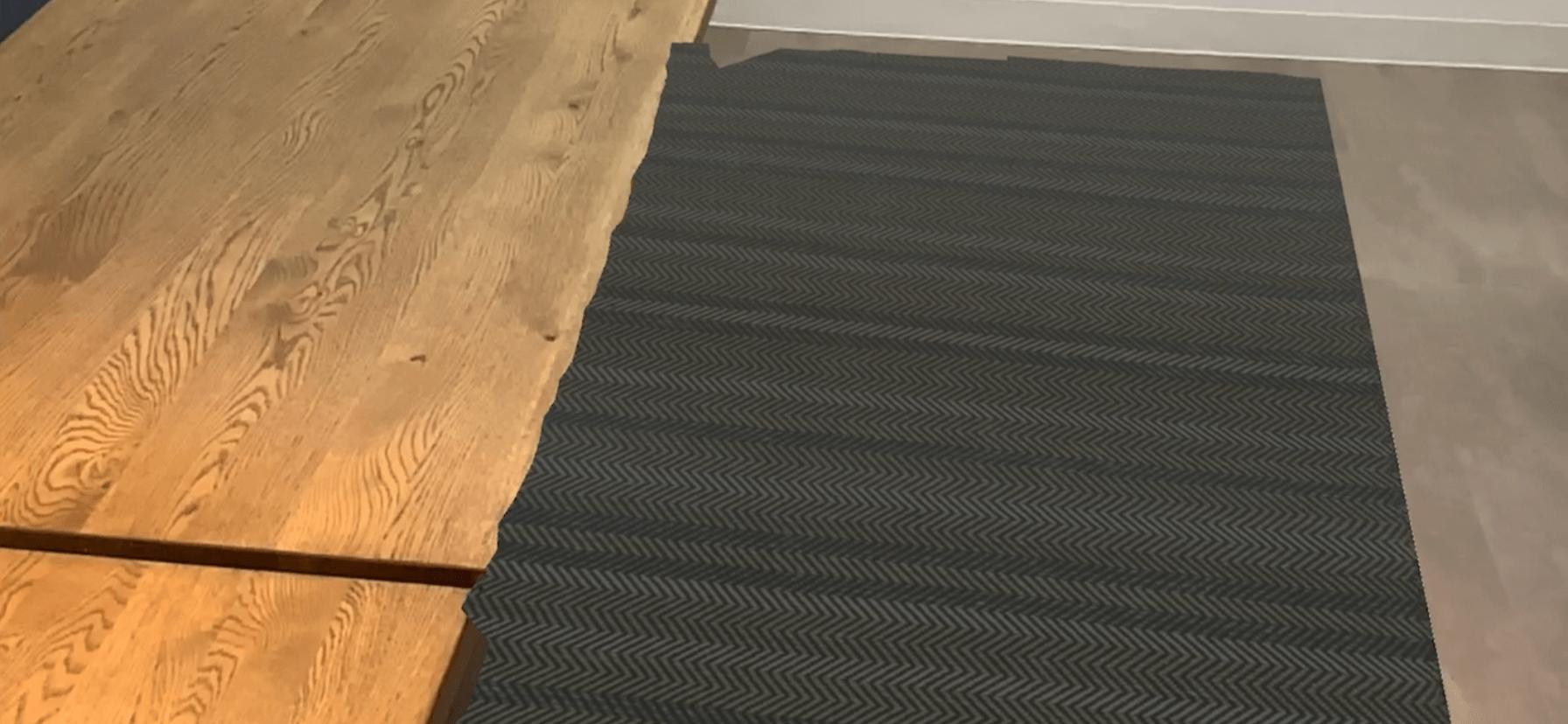 床をお洒落にiPadProのLiDARとWEBARでカーペットを敷いてみた!
